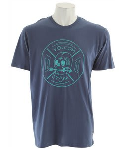 Volcom Territorial T-Shirt Blue Moon