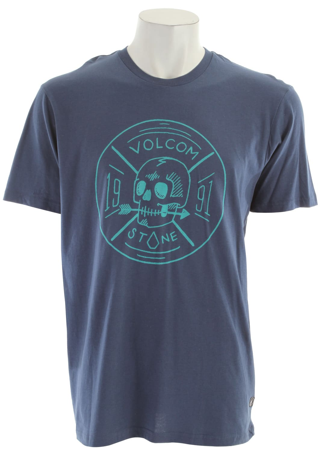 Shop for Volcom Territorial T-Shirt Blue Moon - Men's