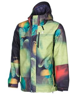 Volcom Three's Insulated Snowboard Jacket Blur Light