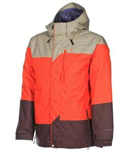 Volcom Three's Insulated Snowboard Jacket Orange