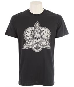 Volcom Tobacco And Leather Skull T-Shirt Black