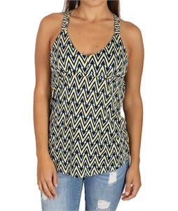 Volcom Treats Cami Tank Top Blue Grey