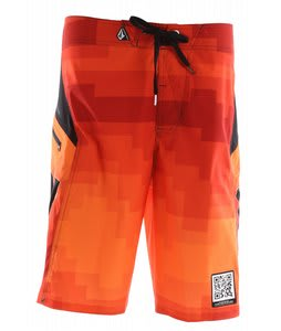 Volcom V6S Pixelater Boardshorts Red