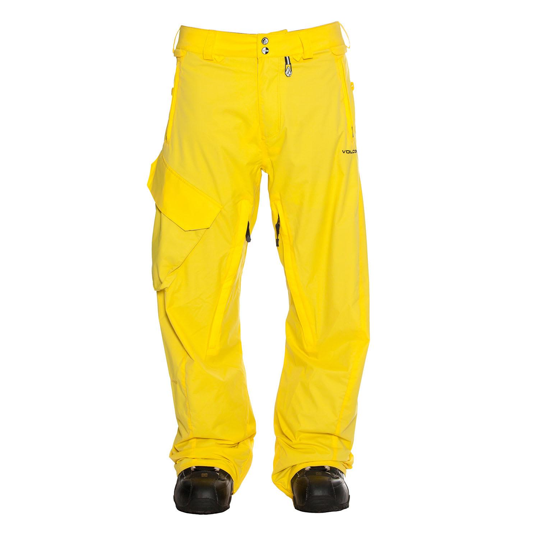 Volcom Ventral Snowboard Pants Yellow Mens