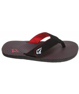 Volcom Vocation Creedlers Sandals Black/Red