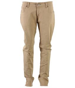 Volcom Vorta S Gene Colored Jeans Dark Khaki Worn