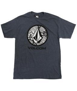 Volcom Wartime Lock Up T-Shirt Navy Heather