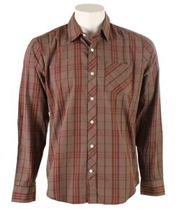 Volcom Weirdoh Plaid L/S Shirt Bark Brown