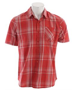 Volcom Why Factor Plaid S/S Shirt Drip Red