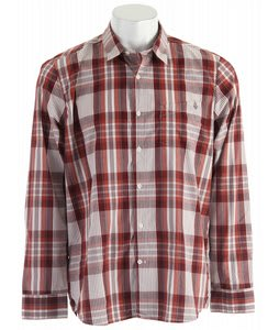 Volcom X-Factor Plaid L/S Shirt Washed Out Burgundy