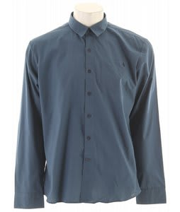 Volcom X Factor Solid L/S Shirt Blue Moon