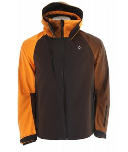 Volkl Pro Fadeout Ski Jacket Black/Orange/Black Print