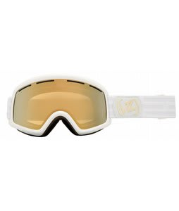 Vonzipper Beefy Goggles White Satin/Gold Chrome Lens