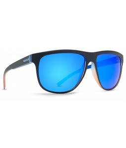 Vonzipper Cletus Sunglasses Huckleberry Tang Blue Orange/Astro Chrome Lens