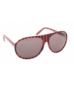 Vonzipper Rockford Sunglasses Red Black Jail Stripe Lens