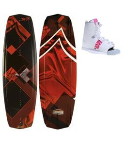 Liquid Force Jett Wakeboard w/ Liquid Force Alpha Wakeboard Bindings
