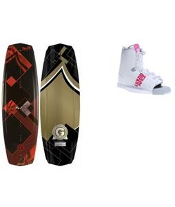 Liquid Force Jett Grind Wakeboard w/ Alpha Bindings