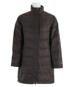 White Sierra Flurry Long Down Jacket Caviar