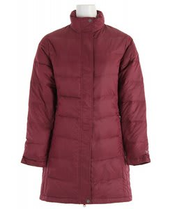 White Sierra Flurry Long Down Jacket Magenta