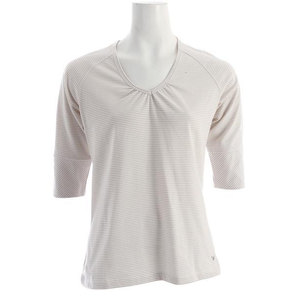 White Sierra Sunlit Stripey 3/4 Sleeve T-Shirt