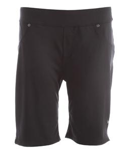 White Sierra Knit Hiking Shorts Black