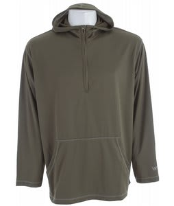 White Sierra Swamp 1/4 Zip Hoodie Sage/New Sage