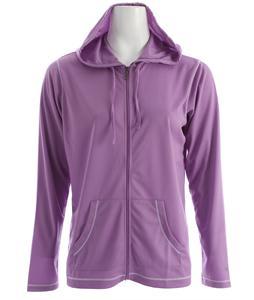 White Sierra Swamp Snap Hoodie Wisteria