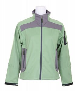 White Sierra Half Moon Ski Jacket Jade Green