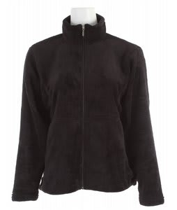 White Sierra Cozy Fleece Jacket Black