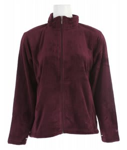 White Sierra Cozy Fleece Jacket Date Plum