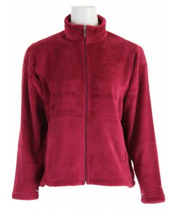 White Sierra Cozy Jacket Berry