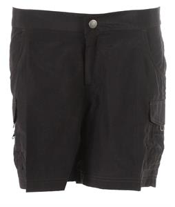 White Sierra Crystal Cover River Shorts Black