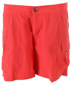 White Sierra Crystal Cover River Shorts Hibiscus