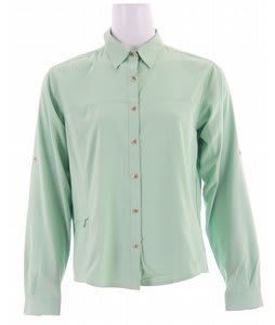White Sierra Gobi Desert L/S Shirt Spruce Green