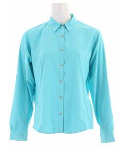 White Sierra Gobi Desert L/S Shirt Turquoise