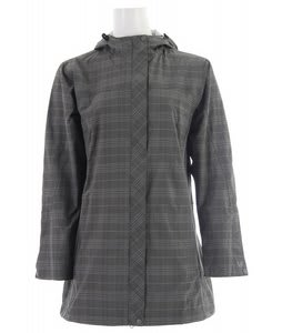 White Sierra Plaid Junket Long Jacket Caviar