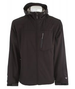 White Sierra South Shore Hooded Softshell Jacket Black