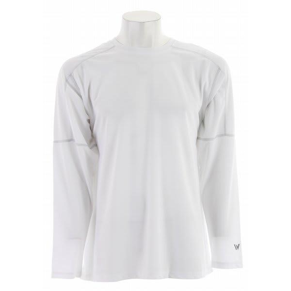 White Sierra Swamp L/S Crew Shirt