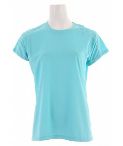 White Sierra Swamp Crew Shirt Turquoise