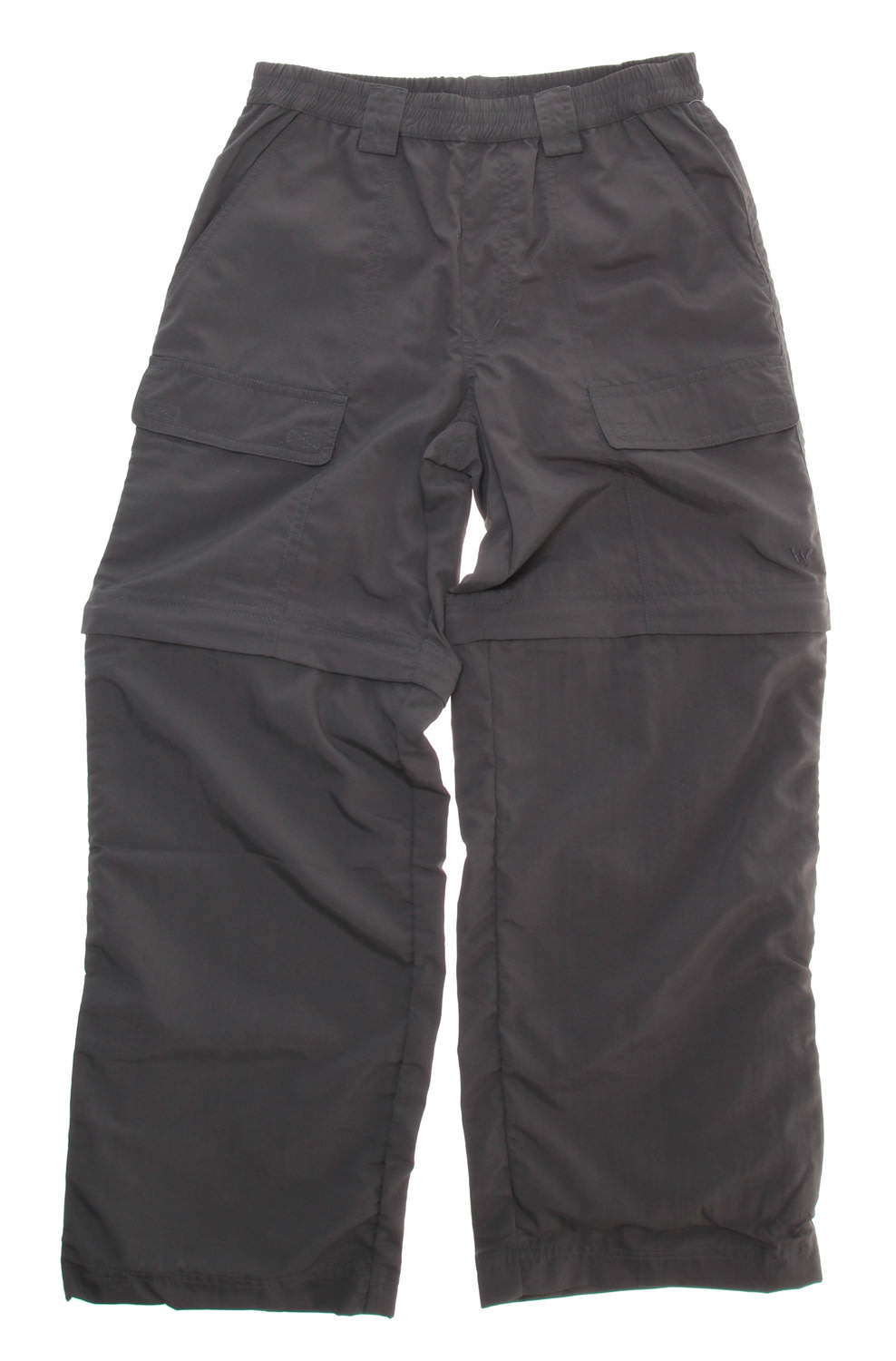 Shop for White Sierra Trail Convertible Pants Caviar - Kid's