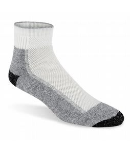 Wigwam Coollite Hiker Pro Quarter Socks Wht/Pewter