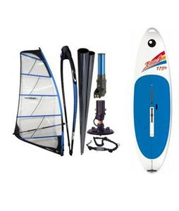Bic Beach Windsurf Board 175D w/ Chinook Powerglide Windsurfing Rig 4.0M