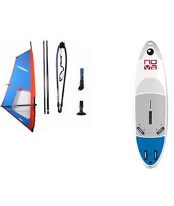 Bic Nova Windsurf Board 205 Dagger w/ Chinook Trainer Rig