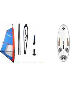 Bic Techno 160D Windsurf Board 160L w/ Chinook Trainer Rig