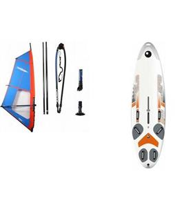 Bic Techno One Design Windsurf Board 293 Dagger w/ Chinook Trainer Rig