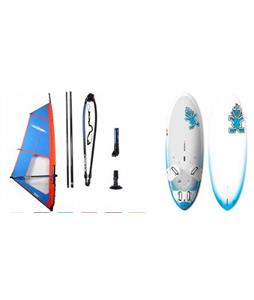 Starboard Go Windsurf Board 151r w/ Chinook Trainer Rig
