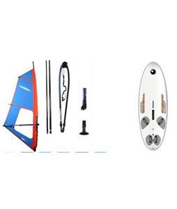 Bic Techno 160D Windsurf Board 160L w/ Chinook Shift Rig