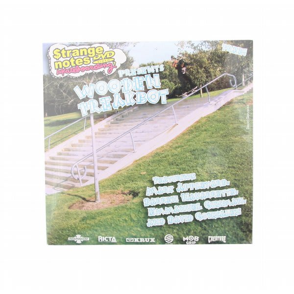 Pop Strange Notes Wooden Freakbot Skateboard DVD