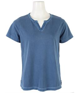 Woolrich First Forks Split Neck T-Shirt Pacific Blue
