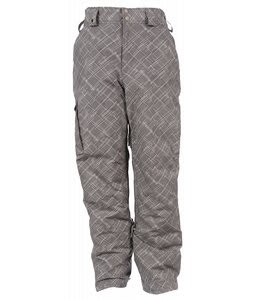 White Sierra Fusion Snow Pants Pewter Argyle